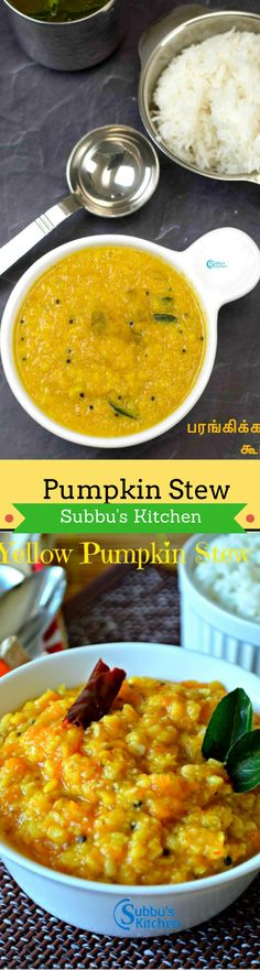 Pumpkin Kootu is made using Yellow Pumpkin (Parangikai), Moong dal & ground coconut.  The nice aroma and flavor of Pumpkin with coconut, cumin ground paste is very appetizing and tasteful.  Pumpkin fruit is one of the widely grown vegetables that is incredibly rich in vital antioxidants, and vitamins.