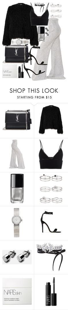 """Untitled #20688"" by florencia95 ❤ liked on Polyvore featuring Yves Saint Laurent, Samsøe & Samsøe, STELLA McCARTNEY, T By Alexander Wang, Chanel, Miss Selfridge, Christian Dior, Baldwin, Fallon and NARS Cosmetics"