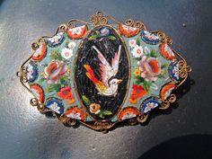 Italian Micro-mosaic Broche Jewelry by Micro-mosaic artist ...