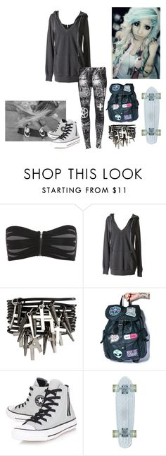 """""""Untitled #733"""" by malda-yolo ❤ liked on Polyvore featuring Novelty, Disturbia, ASOS, Converse, women's clothing, women's fashion, women, female, woman and misses"""
