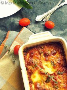 gratin aubergine-mozzarella-tomate et basilic