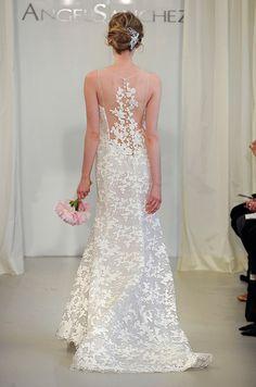 Angel Sanchez wedding dress with amazing back, Spring 2014