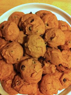 Pumpkin cookies I made these today!  The are puffy and soft!  Delicious!