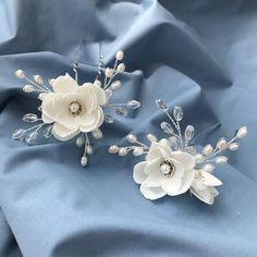 Beach Wedding Jewelry, Bridal Jewelry, Hair Decorations, Wedding Decorations, Wedding Hair Pins, Satin Flowers, Hair Beads, Hair Ornaments, Wedding Hair Accessories