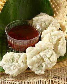Cireng rujak sambal. Indonesia.