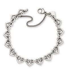 Heart Link Charm Bracelet: James Avery