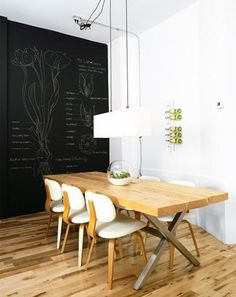 Thinking about painting the wall by the dining table with chalkboard paint