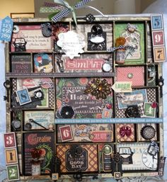 Altered Printer's Tray by Johnna Sengdara #graphic45