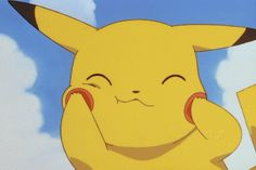 Pikachu. Cute, but overrated. My Geodude will put an end to you, you cute furry yellow MENACE