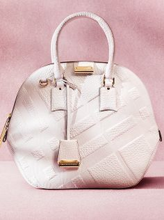 Discover The Orchard - updated for Spring/Summer 2014 in check embossed white leather Burberry