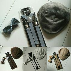 Suspenders Bowtie Cap set