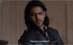 The Musketeers series 3x5. D'Artagnan talks with Borel. BBC.