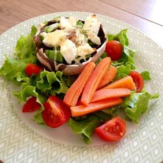 large feta mushroom salad quick healthy recipe lylia rose blog