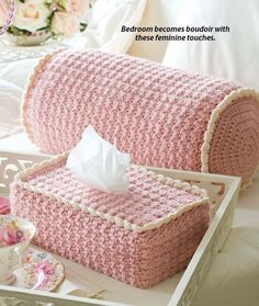Cover up your tissue box with this cute crochet cover