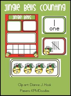 Use for counting chart.  Child puts up number of bells or whatever to match numeral.