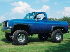 lifted Blue Chevrolet Trucks