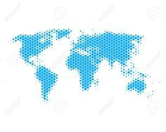 hexagon world map - Google Search
