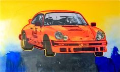 Carrera Rally, 2014 painting created for Heidinger's Porsche series (Lacquer Paint on Polymer)
