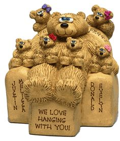 Lil' Bears love playing with the Big Bear, just like the kids love hanging with the parent. A Beary Best Depict of a #Happy Family Life#! A Custom Gift Personalized Free! Price Starts at $23.99