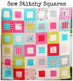Micah, here is a free pattern to make this quilt. It uses a charm pack and a jellyroll but you could also use a layer cake. Have fun!
