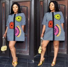 Awesome latest african fashion look . African Fashion Ankara, Latest African Fashion Dresses, African Print Fashion, Africa Fashion, Short African Dresses, African Blouses, African Print Dresses, Short Gowns, African Attire