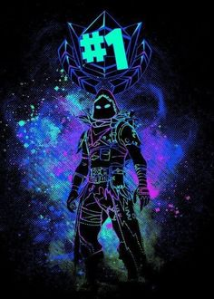 """Want a metal print copy?: Visit Store Description: Fortnite Characters Raven artwork by artist """"Donnie"""". Part of a set based on charact Marshmello Wallpapers, Best Gaming Wallpapers, Epic Games Fortnite, Raven Art, Video Game Art, Cool Wallpaper, Nintendo, Poster Prints, Retro"""