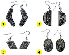 Polished sand earrings Free postage in Australia by vitbich