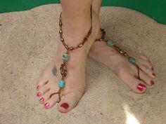 Barefoot beach sandals