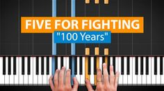 """How to Play """"100 Years"""" by Five For Fighting on Piano with Synthesia & HD Piano (Part 2)"""