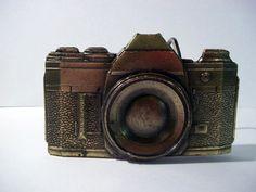 Vintage Brass Camera Belt Buckle