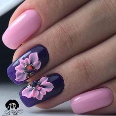 Cute Acrylic Nails, Acrylic Nail Designs, Nail Art Designs, Fancy Nails Designs, Beautiful Nail Designs, Pink Manicure, Pink Nails, 3d Nail Art, Stone Nail Art