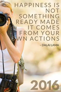 Dalai Lama Quote - HAPPINESS IS NOT SOMETHING READY MADE IT COMES FROM YOUR OWN ACTIONS || 2016 Resolutions | The Travel Tester