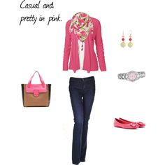 Pretty and casual in pink