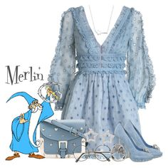 """Merlin"" by pink-quartz ❤ liked on Polyvore featuring Zimmermann, Belk Silverworks, Alexander McQueen, RED Valentino, ZeroUV, NOVICA, Ross-Simons, disney, Merlin and wizard"