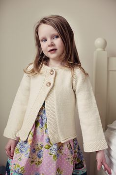 Girl's Cardigan with clean, simple lines (2-12 years)...free pattern