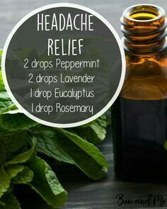 Headache relief with essential oils