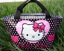 Cool Black Hello Kitty Lunch / Picnic / Make-up Bag / Handbag - Awesome Gift Idea! FREE SHIPPING