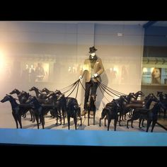 The window of a store (of immense good taste, by the way), in London....I would love to see this in person