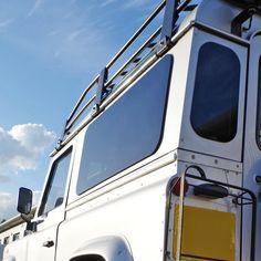 Masai Zeppelin - Tinted Windows for Land Rover Defender 90 and 110 Land Rover Defender 110, Defender 90, Landrover Defender, Staffordshire Uk, Window Fitting, Window Types, Sliding Windows, House Windows, Work Lights