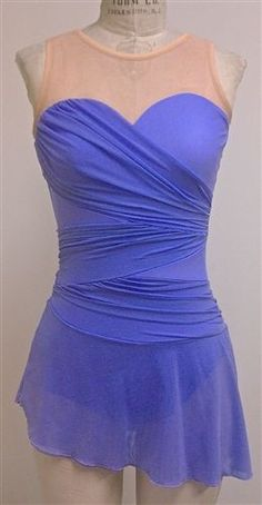 11538dc3d2 New Del Arbour Sweetheart Lilac Mesh Ice Figure Skating Dress - Ladies