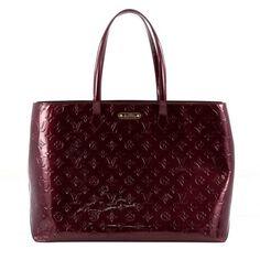 Louis Vuitton Wilshire Handbag Monogram Vernis GM
