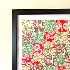 """Easy to make """"quilt"""" - constructed from scrapbook paper!"""