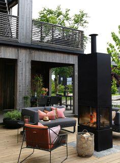 TV GARDEN DESIGN – TV2 2021 Outdoor Fire, Outdoor Living, Architecture Design, Porch And Terrace, Steel House, Backyard, Patio, Outdoor Furniture Sets, Outdoor Decor