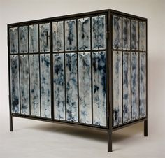 Christophe Côme  Lava Cabinet    CHRISTOPHE CÔME  Lava Cabinet  Glazed volcanic stone tiles with  metal, 2010