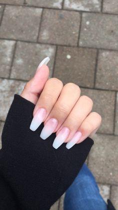 Long gel ombre Nails