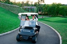 Golf Course Wedding Ride across the country club in a golf cart. - Think beyond the classic limousine when it comes to your wedding transportation! Here, some of the most creative ideas we've seen. Reception Design, Wedding Reception, Reception Ideas, Wedding Styles, Wedding Ideas, Wedding Fun, Wedding Bells, Garden Wedding, Wedding Transportation