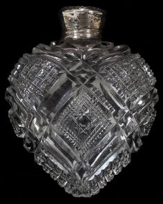 111386: UNGER BROS. STERLING & CUT GLASS PERFUME BOTTLE : Lot 111386