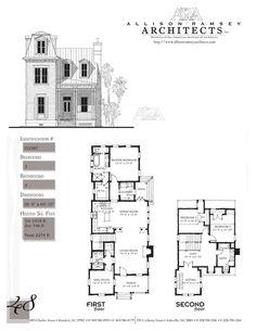 This plan is 2274 Heated Square Feet 3 Bedrooms and 3 Bathrooms. Carolina Inspirations Book II Page 48 Cottage Floor Plans, Small House Floor Plans, New House Plans, Empire House, Antique House, Victorian House, Sims House Design, Vintage House Plans, Fairytale Cottage