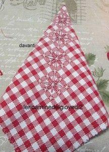 E' Manuela l'ideatrice, in suo blog è una fonte continua di idee http://www.lericaminedelgiovedi2.blogspot.it/ Non manca molto a Natale, ma non è ancora il momento di dire  Su su, basta un ritaglietto di tessuto a quadretti,...