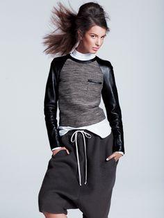 3.1 Phillip Lim top, Uniqlo + J shirt, and Rick Owens shorts: Varsity-Inspired Fashion: Feature: teenvogue.com